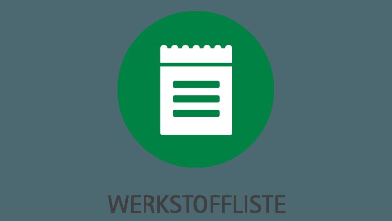 Werkstoffliste