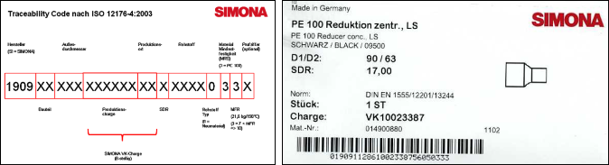 Kennzeichnung Traceability Code