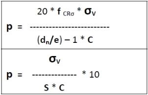 PN-Nenndruck Formel 3