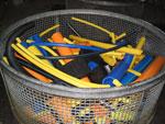 Umwelt und Recycling  Kunststoffrohrreste