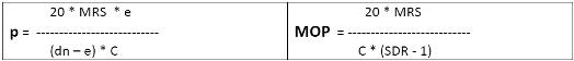 Berechnung des zulässigen Betriebsüberdruckes p (= MOP) aus der Kesselformel