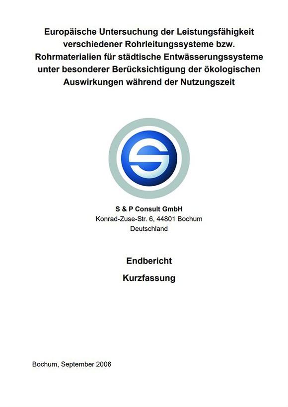 Deutsche Kurzfassung der Studie über nachhaltige Abwasserkanäle
